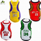 Четыре баскетбольные команды большая собака жилет мода Pet футболка весна лето Высокое качество баскетбол собака жилеты размер 3XL-6XL прямая поставка