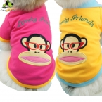 Pet Dog All Seasons Спортивные Толстовки Хлопок Дышащая Британский Стиль Polot футболка Одежда Для Собак Четыре Цвет Размер XS-XL высший Сорт