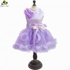 Лето платье тедди роза собака ну вечеринку платья для собак подходит  новые одежды бесплатная доставка