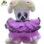 Новая Коллекция Весна Лето Dot Платье Любимчика Тедди Принцесса Собака Платья Прекрасные Платья Для Собак Подходит Одежда Для Животных
