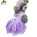 Лето собака круто платье одежду розовый синий цвет размер XS-XXL любимая одежда CA печатных юбки платье одежда для собак