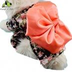 Собака Кимоно Рисунок Летнее Платье Кошка Рубашка Оптовая  Собака Весна Лето Загружен Собака Платье Размер XS-XXL Бесплатная Доставка доставка