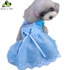 Лето Одежда Для Собак Pet Платье Милой Принцессы Pet Свадебное платье Для Собак Высокого Качества Марка Одежды Любимчика Поставки Розовый Синий
