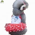 Домашних собак платья симпатичные собаки любимчика мороженое платья летние пудель кинг - с домашних  новые поступления чихуахуа тедди рубашка бесплатная доставка