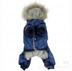 Горячая Зима Теплая Толстая Для Большой Маленький Собак Pet Одежда мягкий Капюшоном Комбинезон Одежда Брюки XS-5XL Горячая  Прибытие Бесплатно доставка