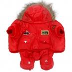 Маленький Большой Собаки Теплой Зимней Одежды Одежда Собака Комбинезон теплый Большой Собака Спортивный Костюм Щенок С Капюшоном Куртка Пальто Товаров XS-5XL