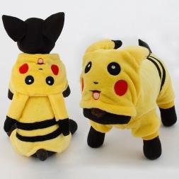 поступление собаки одежда симпатичные мультфильм пикачу дизайн косплей домашние животные собака одежда для кошек щенок толстовка зима теплая пальто