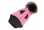 Собаки зимы собаки теплое пальто щенок толстовка одежды с меховым любимая одежда съемный шлем зимой для собак кошки синий / розовый