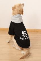 Спортивный стиль зима теплая домашних собак пальто GrayBlack хлопок смесь питомец большие собаки толстовки маленький щенок одежды бесплатная доставка