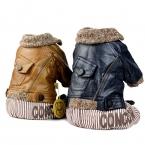 Красивый прохладный стиль мужской одежды собаки кожаная одежда для домашних животных щенок кот куртка собака зимнее пальто швейной продукции для животных