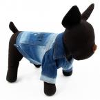 Собака лапа принт домашнее животное одежда джинсовый ткань собака пальто укусить меня щенок одежда Cat костюм домашнее животное