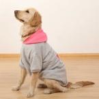 Недавно дизайн зима теплая одежда для собак пальто кофты серый розовый полушерстянная домашние животные большие собаки толстовки маленький щенок одежды