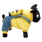 Собака одежда собак комбинезоны куртка теплая зимняя одежда мультфильм миньоны кукла на спине щенок кошка нагрудник брюки товаров для домашних животных