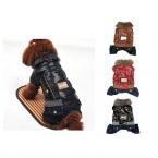 Горячая новое поступление горячая зима теплая маленькая собака куртки пальто джинсы кожаная одежда одежда для животных хлопка-ватник толстовка комбинезон брюки одежды