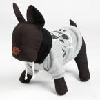 Спортивный стиль зима теплая собака одежда пальто серого смесь питомец большие собаки толстовки маленький щенок одежды бесплатная доставка
