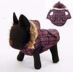 Пэт теплую одежду из хлопка решетки кошка зима собака щенок зима хлопка-ватник одежда куртка толщиной теплый бесплатная доставка