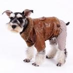 Одежда для животных зима теплая одежда для маленьких собак щенок кошка кожа толстая комбинезон куртка четыре ноги пальто красивый стиль продукт любимчика
