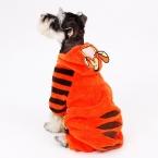 Собака одежда тигр костюм комбинезон-ребенок щенок куртка с капюшоном чихуахуа симпатичная одежда теплая зимняя одежда для малого-среднего собака
