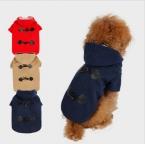 Собак собака пальто рождество животным щенок толстовки одежды вола роговые пуговицы одежда щенок кошка теплое пальто на осень и зима
