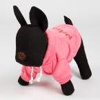 Спортивный стиль зима теплая домашних собак пальто розовый хлопок смесь питомец большие собаки толстовки маленький щенок одежды бесплатная доставка