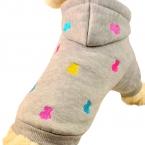 Домашних собак шаблон капюшоном щенок досуг куртка свободного покроя пальто костюм тедди одежда осень зима для малого-среднего собака