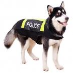 Большие домашнее животное собака отражающий одежда рабочий большой собака одежда бунт полиция стиль пальто собака жилет лето Costum куртка L / XL / XXL