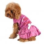 лето милый стиль бантом и цвет точек одежда для собак Pet одежда платье принцессы щенок юбка Mix размер xs-xl