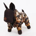 Домашних собак камуфляж плащи собак светоотражающие дождевик водонепроницаемый Pet капюшоном одежды одежда XS-XL для малого-среднего собака