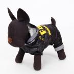 Для животных новый собаки плащ щенок фбр логотип черное пальто одежда собака комбинезон водонепроницаемого материала высокое качество любимчика продукта