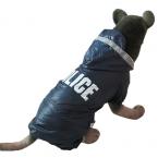 Pet большой собаки одежды Pet плащ пончо зима ветрозащитный теплый ткань полиция печать продукты новинка