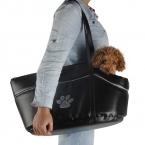для перевозки домашних животных кожаный черный пес щенок кошка собака носителей для маленьких собак поездка мягкая сумка бесплатная доставка