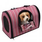 Собаку Pet полкодержатель-перевозчик багажа портативный питомник кожаную сумку кровать собаки проветривайте идеально подходит для путешествий красная полоса бесплатная доставка