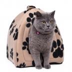 Конус кошка кровать котенок питомник очень мягкая ткань кровать собаки дом щенок собаки с лапой-бесплатная кама пункт Cachorro товары для животных