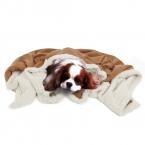 Теплый Pet отпечаток лапы домашняя кошка собака мягкое одеяло кровать коврик полотенца одеяла постельное белье замши отпечаток лапы одеяло толщиной теплая зима