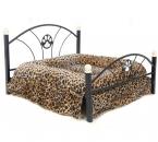 роскошные собаку кровать Camas пункт перро кошка питомник гнездо диван кровать для собак мебель с высокое качество зебра леопард