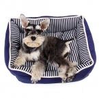 последний тип Pet кровать мягкая полосатый теплый толстый собачья будка щенок кошка сна коврики кровать собаки питомник домашних животных подушка товары для животных