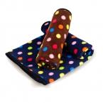 Теплая и удобная цвет горошек руно одеяло двусторонняя одеяло для собаки в Antumn зима кондиционер одеяло