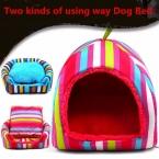 Товары для животных кровать собаки мягкая прекрасный дом любимчика узоров собаки питомника щенок местный два вида путь по использованию кровати