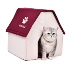 Красный зеленый кошкин дом мягким кровать собаки съемный щенок питомник кама пункт Cachorro котенок домашнего питомца кровать ProductsforAnimals место для сна
