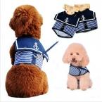 животное использовать Pothook кнопка собаки щенок собаки темно-синий жилеты ожерелье тяги поводок собаки с липучкой XS-L