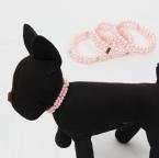 Мода собака девушка животное ожерелье собака жемчуг животное ошейник ювелирных изделий ожерелье щенок и кошка домашних животных йоркшир