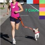 новый талии собаку поводок запуск бег щенок ведущий воротник спорт регулируемая прогулки поводок цветов конфеты ручной бесплатная прогулки