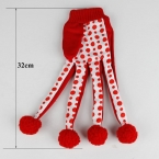 Новинка бесплатная доставка товары для животных прекрасный Pet забавные игрушки симпатичные горошек игрушки скреста перчатки игрушка красный цвет