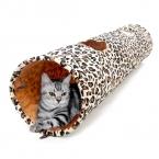 Горячая распродажа продукт любимчика кот туннель леопардовый извивающихся Cat Fun 2 отверстия длинный туннель котенок игрушки домашнее животное играть гостиной необходимо