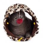новые продукты игрушки для домашних животных туннель с мяч играть туннель леопардовый веселый мини туннель котенок играть игрушки складной кролик игрушка