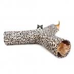 Кошка туннель леопардовый извивающихся 3 разъемы Pet туннель котенок играть игрушки складной кролик игрушки кошка игрушка секс-товаров для Fun