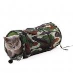 Продукт любимчика кот камуфляж туннель игрушка с мячом играть Fun туннель играть туннель игрушки складной основная кошка игрушки
