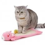 Игрушки кота смешной мультфильм кошки гофрированная бумага царапин совета кошка котенок сизаля скреста игрушка мебель спиночес с мячом