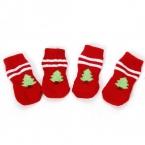 Chirstmas товары для животных собаки теплые зимние рождественская елка носки милые щенок зоосалон обувь Pet украшение товаров для домашних животных