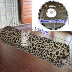 Пэт туннель играть туннель леопардовый извивающихся Cat Fun длинный туннель котенок играть игрушка складной кролик играть туннель основная кошка игрушка